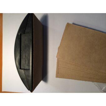 csiszolótuskó 70x125mm + 50 db csiszolólap Tivoly