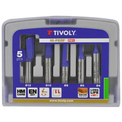 5 részes nútmaró készlet Tivoly Technics
