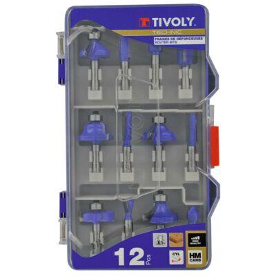 12 részes Felsőmaró készlet Tivoly Technics